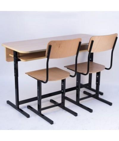Banca scolara dubla reglabila cu 2 scaune reglabile  - FIRST-L