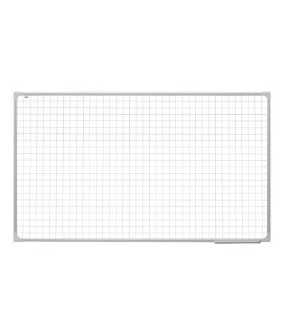 Tabla scolara alba cu suprafata magnetica liniata matematica