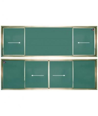 Tabla scolara verde culisanta pe orizontala